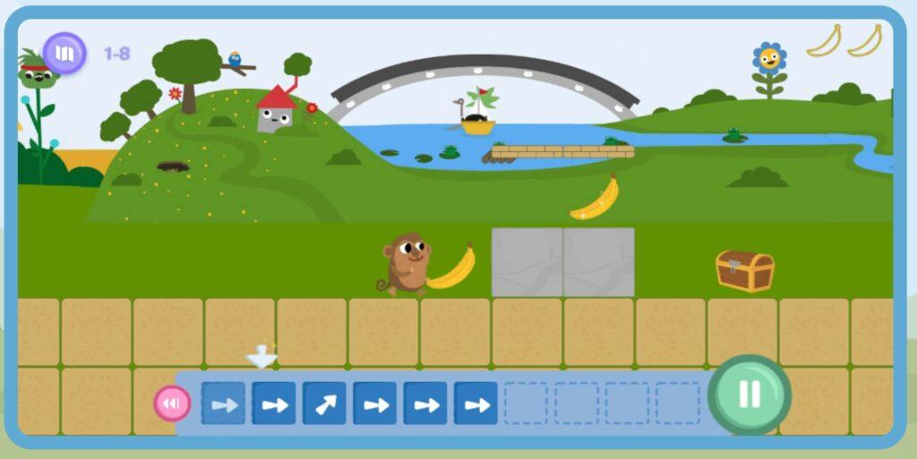 コードモンキーJrのプレイ画面