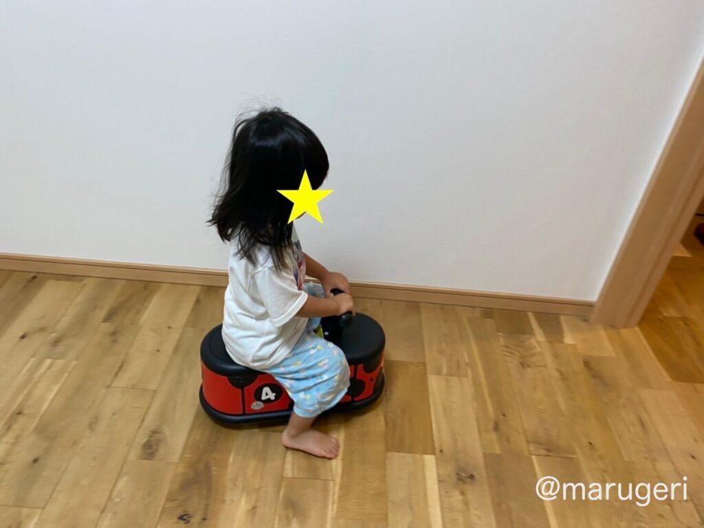 娘が乗っている写真