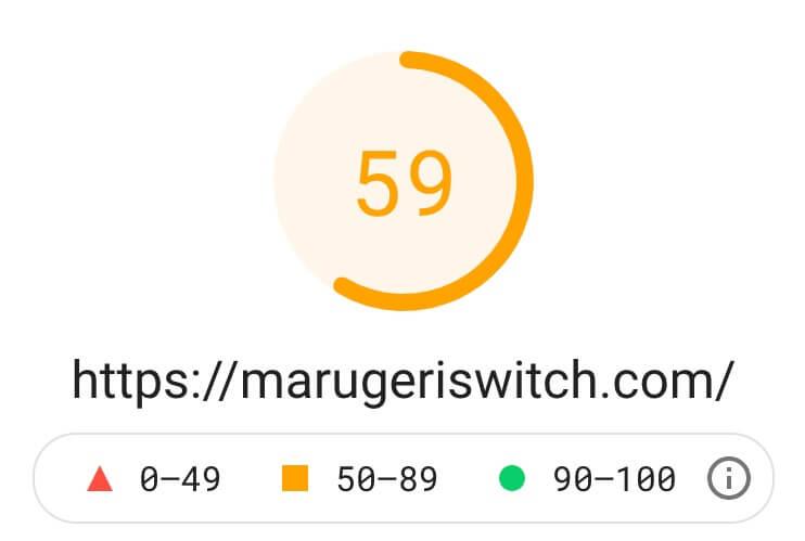 アフィンガー5・モバイルの表示速度